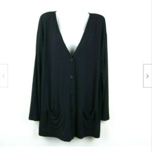 J Jill Long Sleeve V Neck Cardigan